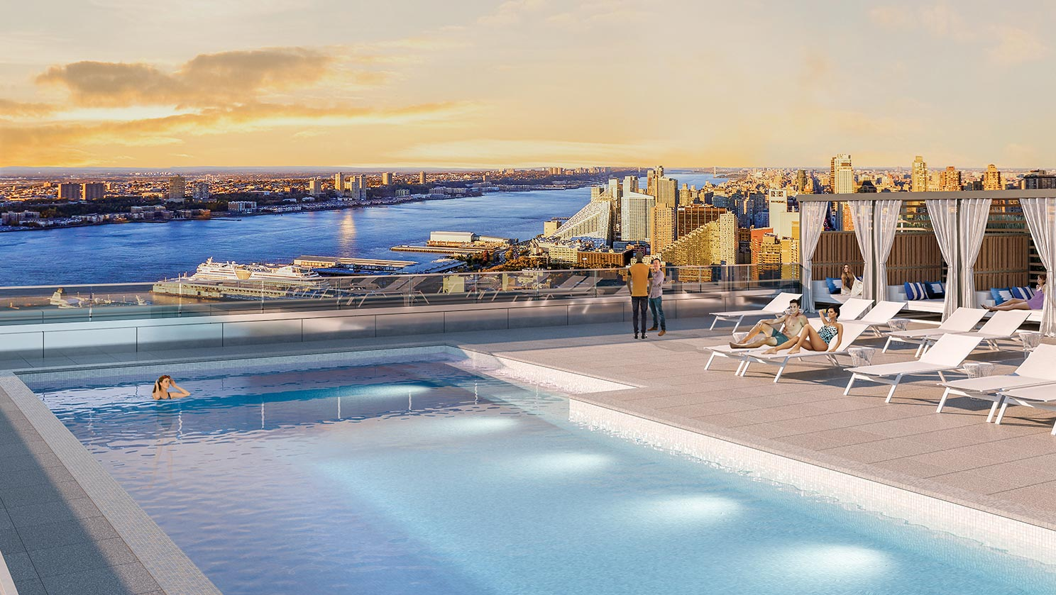 Midtown Luxury Apartments Outdoor Pool